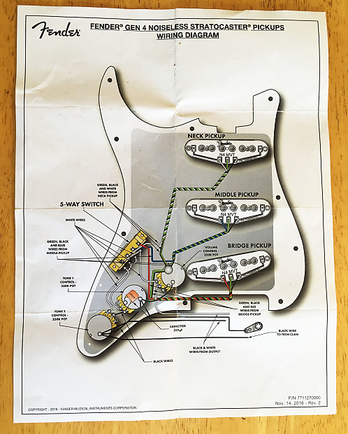 [DIAGRAM_5NL]  Fender Stratocaster Gen4 Noiseless Pickups in a loaded Strat | Reverb | Fender Noiseless Pickups For Stratocaster Wiring Diagram |  | Reverb