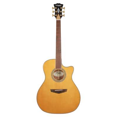 D'Angelico Excel Gramercy XT Acoustic Electric Guitar, Vintage Natural