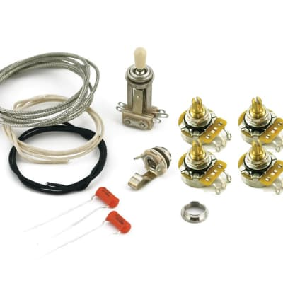 CTS 550k Wiring kit Short shaft pots Fits Gibson USA Guitars Les Paul Special, V image