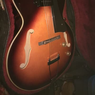 Alden   Archtop  Guitar with p90 pickup in tobacco sunburst for sale