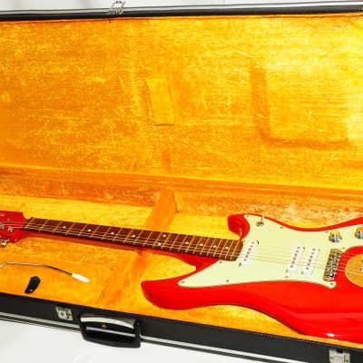 Excellent Mosrite SG-2 SG-3 Type Red Electric Guitar Ref.No 2029