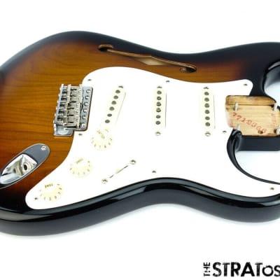 LOADED 2019 USA Fender ERIC JOHNSON Thinline Strat BODY Nitro 2TS Sunburst