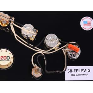 920D Custom Shop 58-EPI-FV-G Wiring Harness for '58 Epiphone Flying V