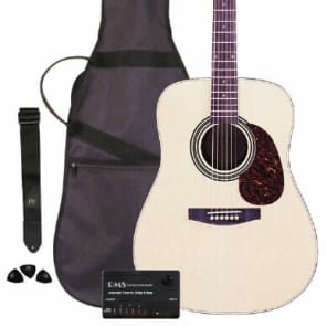 JB Player Acoustic Works Guitar Package with Gig Bag, Strap, Tuner and Picks for sale
