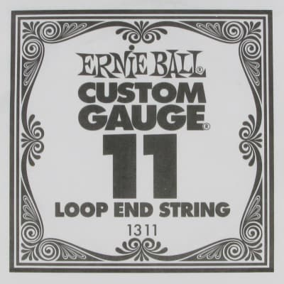 Ernie Ball .011 Loop End Plain Single
