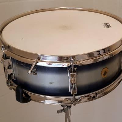 Ludwig pioneer duo-coat snare drum 1966 blue/silver
