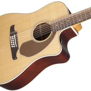 Fender Villager SCE 12-String Solid Spruce/Mahogany Cutaway Dreadnought w/ Electronics Natural