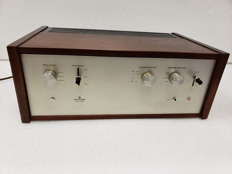 Fully Restored Pioneer SM-100 Stereo Power Amp - Extra Rare Pre-Elite Top  Of The Line 85WPC Pioneer (1967-1970)!!