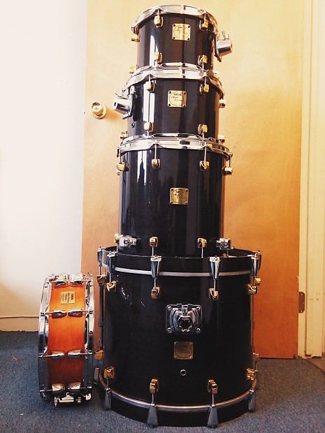 yamaha maple custom drum set w snare rare jazz fusion reverb. Black Bedroom Furniture Sets. Home Design Ideas
