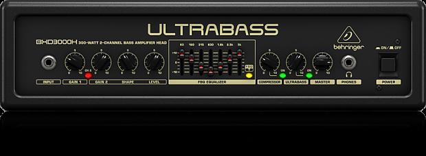 behringer ultrabass bxd3000h bass amplifier head 300 watt reverb. Black Bedroom Furniture Sets. Home Design Ideas