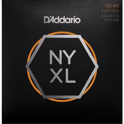 D'Addario NYXL1046BT Nickel Wound Electric Guitar Strings Balanced Tension 10-46