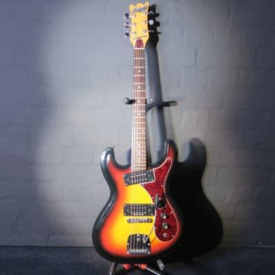 Univox Hi Flier Custom Sunburst Kurt Cobain Nirvana Guitar + Seymour Duncans & Case for sale