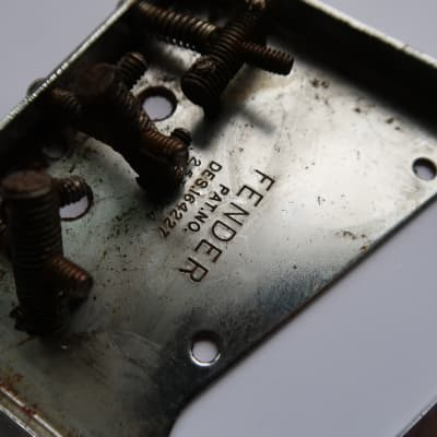 Fender Telecaster Bridge  PAT.PEND. Tele /   barrel  grooved saddles 60's 70's  Chrome 62