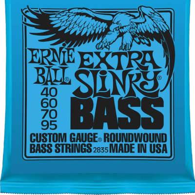 Ernie Ball Extra Slinky Bass Strings Roundwound Set 40-95