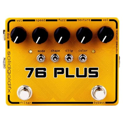 SolidGoldFX 76 Plus Octave Up Fuzz and Filter Pedal