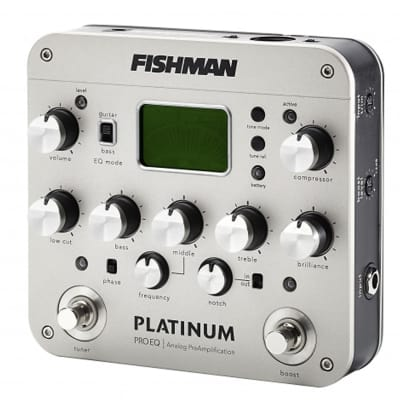 FISHMAN Pro Platinum EQ Acoustic Guitar Preamp Pedal DEMO