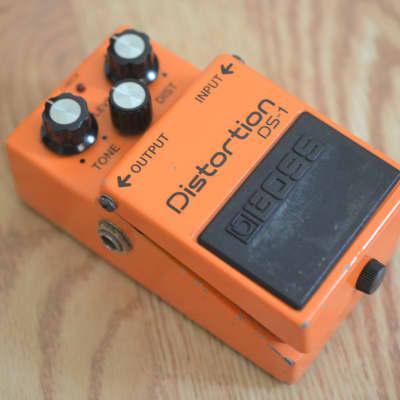 Boss DS-1 Distortion Vintage Black Label MIJ 1980s Orange for sale