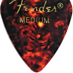 Fender 351 Shape Classic Picks, Medium, Shell, 144 Count Tortoise Shell