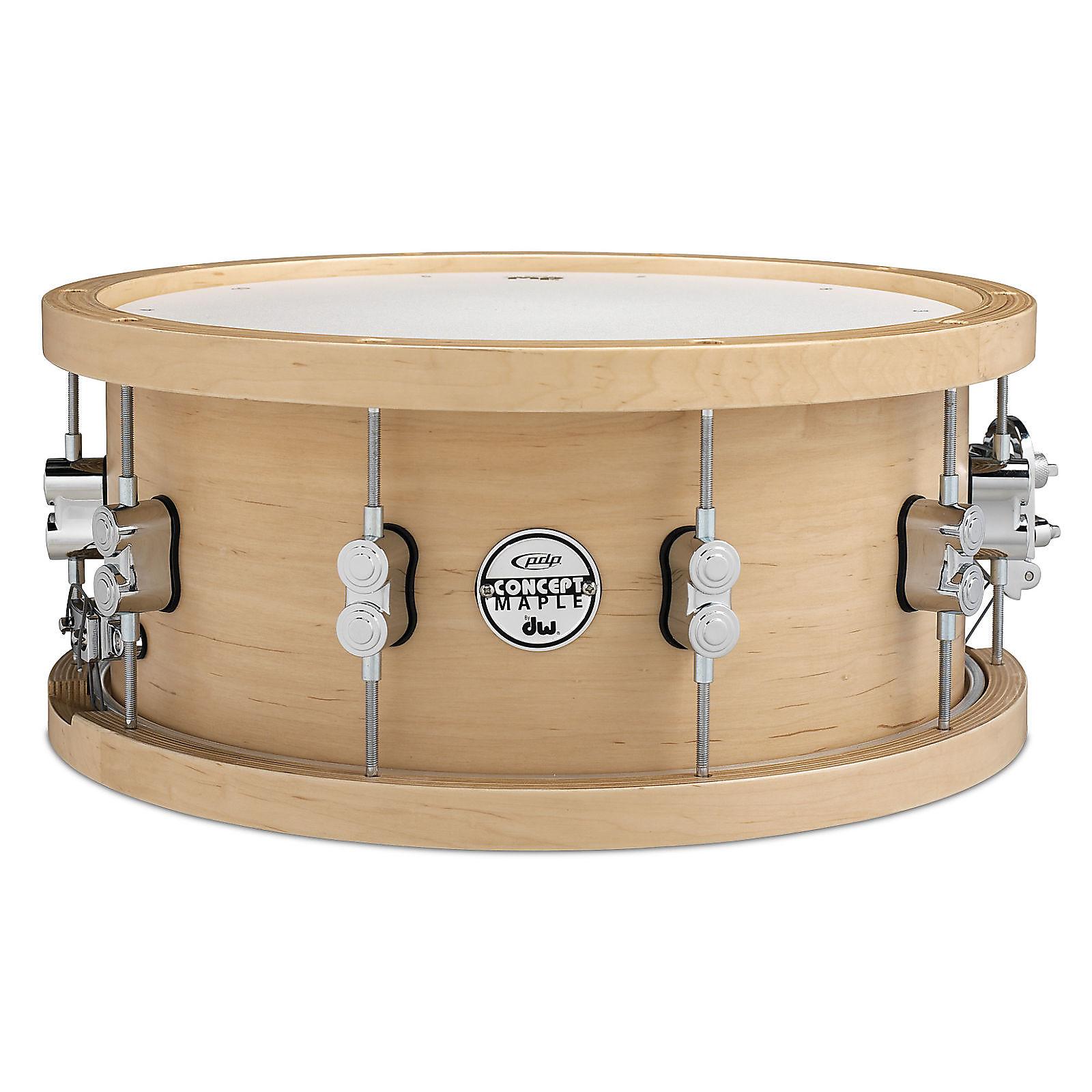pdp pdsn5514nawh 20 ply maple snare drum w wood hoops reverb. Black Bedroom Furniture Sets. Home Design Ideas