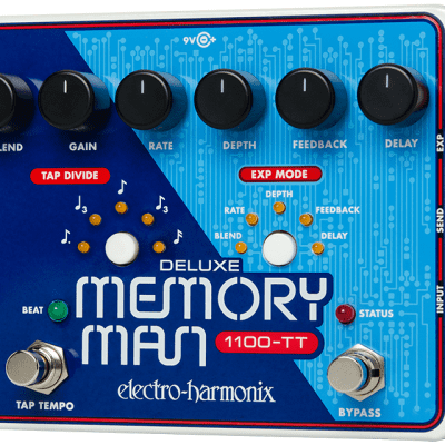 New Electro-Harmonix Deluxe Memory Man 1100TT Tap Tempo 1100 ms Delay Pedal! TT