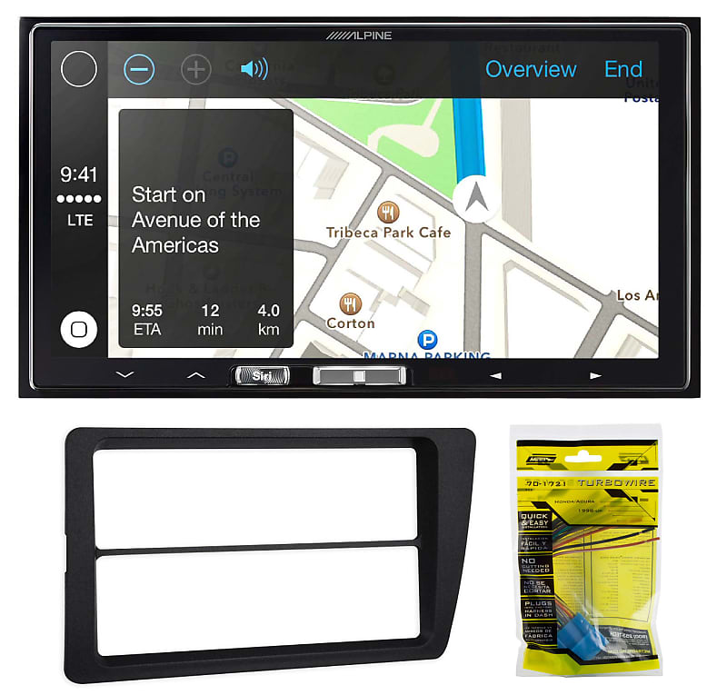 Alpine Media Receiver Wireless CarPlay/XM For 2001-2005 Honda Civic  Non-SE/Si
