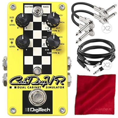 DigiTech CabDryVR Dual Cabinet Simulator Pedal for Electric Guitar Assorted Cabl