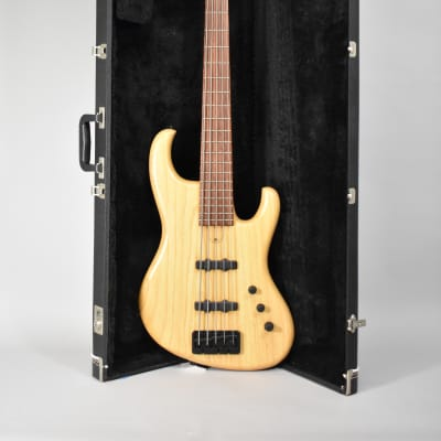 Kinal M230 5 String Bass Natural Finish Electric Bass Guitar w/HSC for sale