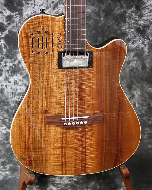 exc used godin a6 ultra koa hybrid acoustic electric guitar reverb. Black Bedroom Furniture Sets. Home Design Ideas