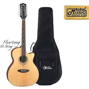Luna Guitars Heartsong 12 String Concert A/E Guitar, b-band, USB Upgrade, SONG12 for sale