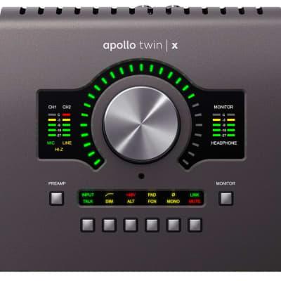 Universal Audio Apollo Twin X w/ QUAD Processing (Desktop/Mac/Win/TB3)