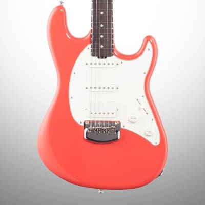 Ernie Ball Music Man 2018 Cutlass RS HSS Electric Guitar, Rosewood (with Case), Coral Red