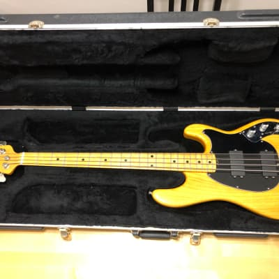 Ernie Ball Music Man Classic Sabre 4-String Bass with Flame Maple Neck, Rosewood Fretboard Black 2017 for sale