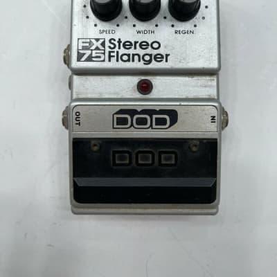 DOD Digitech FX75 Stereo Analog Flanger Rare Vintage Guitar Effect Pedal for sale