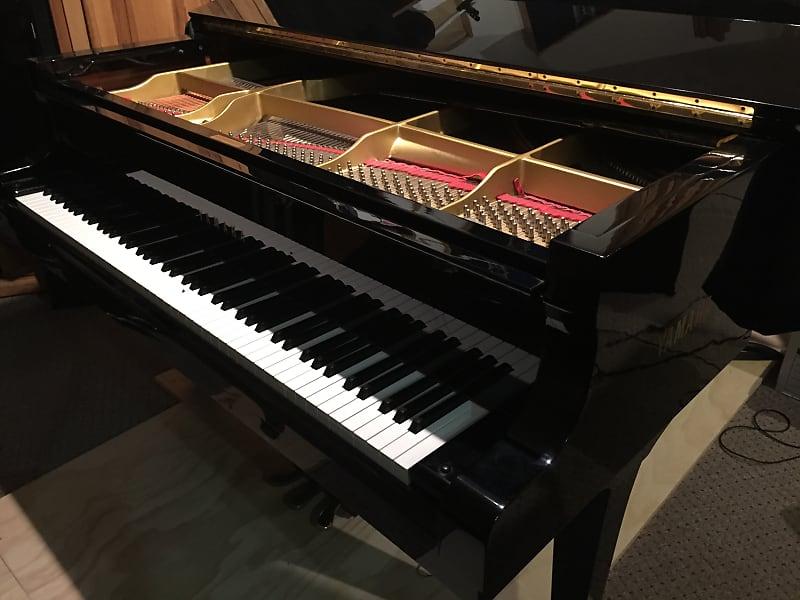 yamaha c7 conservatory grand piano c7e 1986 black reverb. Black Bedroom Furniture Sets. Home Design Ideas