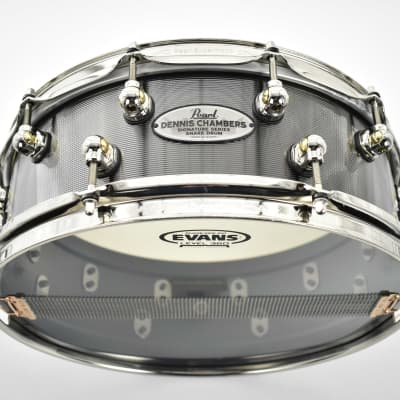 """Pearl DC1450S/N Dennis Chambers Signature 14x5"""" Cast Aluminum Snare Drum"""