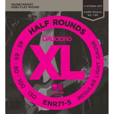 D´Addario ENR71-5 Half Rounds Semi Flatwound Bass Strings