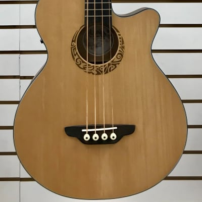 Luna LAB30TRIBAL Tribal Acoustic/Electric Bass - Short Scale for sale