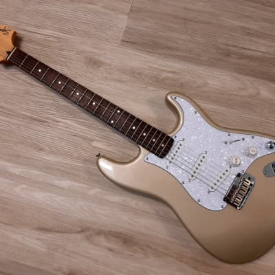 2001 Squier® by Fender Stratocaster Guitar w/MODS Shoreline Gold NICE SSS for sale