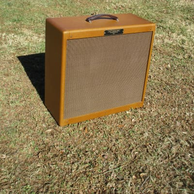 Carl's Custom Amps 4x10 Dark Tweed Lacquered Tweed Extension Cabinet with Vintage Jensen Speakers for sale