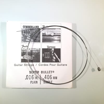 """Fender REAL Vintage 70's Super Bullet String 0.016"""" Plain"""