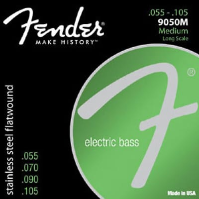 Fender Bass Stainless Steel Flats 55-105 4 String Bass Strings