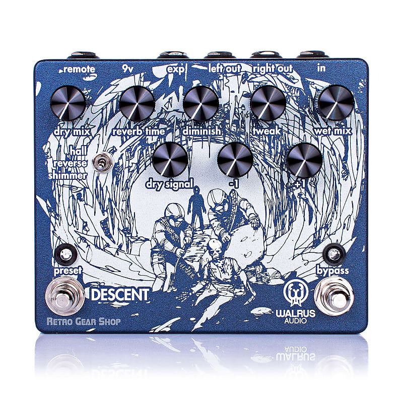Walrus Audio Descent Reverb Octave Machine Guitar Pedal