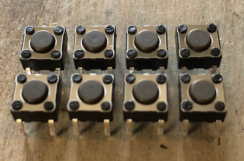 DIGITECH RP-5 REPLACEMENT DATA ENTRY SET OF 8 PARAMETER EDIT ENTRY BUTTONS