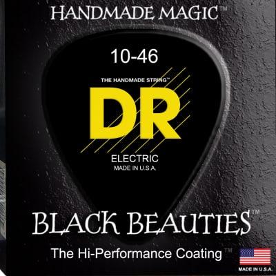 DR Strings BKE-10 Black K3 Coated Electric Strings - Medium, 10-46 for sale