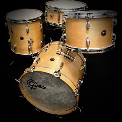 "Gretsch Vintage Jazz Set Kit 18"" Bass Natural Maple Jasper Shells"