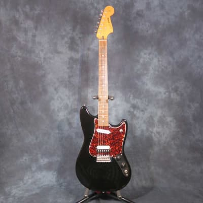 Fender Cyclone 2000 Black Red Pickguard Rare Mustang Style Electric Guitar for sale