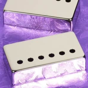 2 Lindy Fralin Bright Nickel Humbucker Pickup Covers for LP SG Guitars Les Paul Made In USA New
