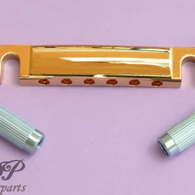 Gotoh Tailpiece GE101Z style Gibson Stoptail, Metric Zmac Gold for sale