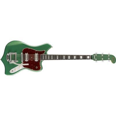 Fender Parallel Universe II Maverick Dorado Ebony Fingerboard, Mystic Pine Green for sale