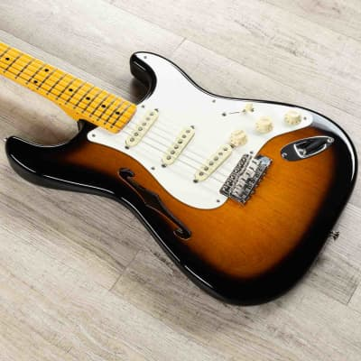 Fender Eric Johnson Thinline Stratocaster Guitar, 2-Color Sunburst (B-STOCK)
